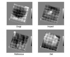 Controle de pollution de surface sur matériau composite - Visu 3D THz